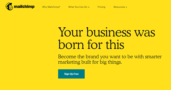 E Mail Marketing Mailchimp Call to Action
